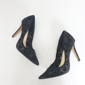 Jessica Simpson Blk Pointed Toe Classic Heels Shee
